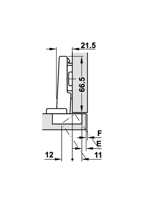 Extreem Keukenkast scharnier opliggende montage met softclose | Voormeubels ZX95