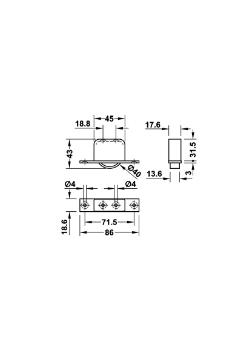 Inbouw meubelwiel