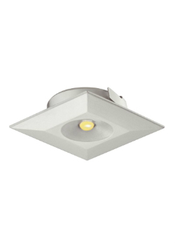 Led inbouwlamp vierkant set van 3