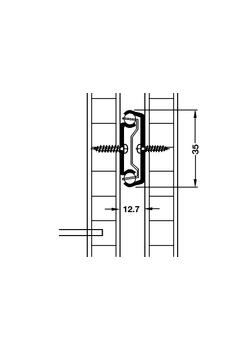 Kogelgeleider enkel uittrekbaar 65 cm