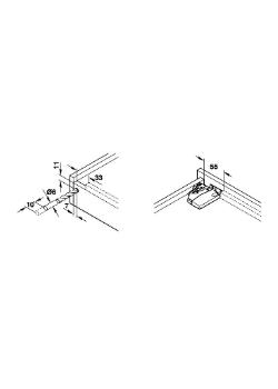Onderbouwgeleider Soft-close 35 cm