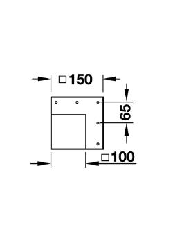 Tafelpoot vierkant RVS