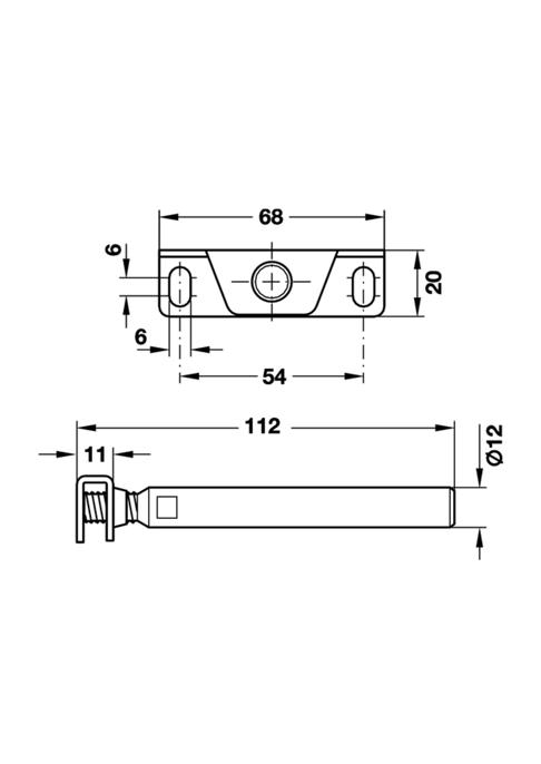 Plankdrager met aanschroefplaat