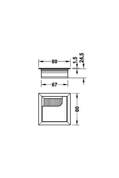 kabeldoorvoer vierkant
